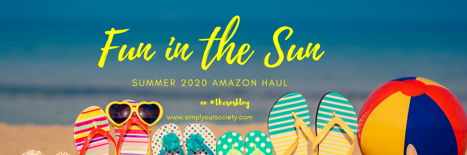 picture of beach with colorful flip flops stuck in the sand and a beach ball, amazon summer haul 2020, july amazon haul, amazon finds march 2020, best things to do in the summer, things to do in the summer at home, summer activities for adults, what to do this summer 2020