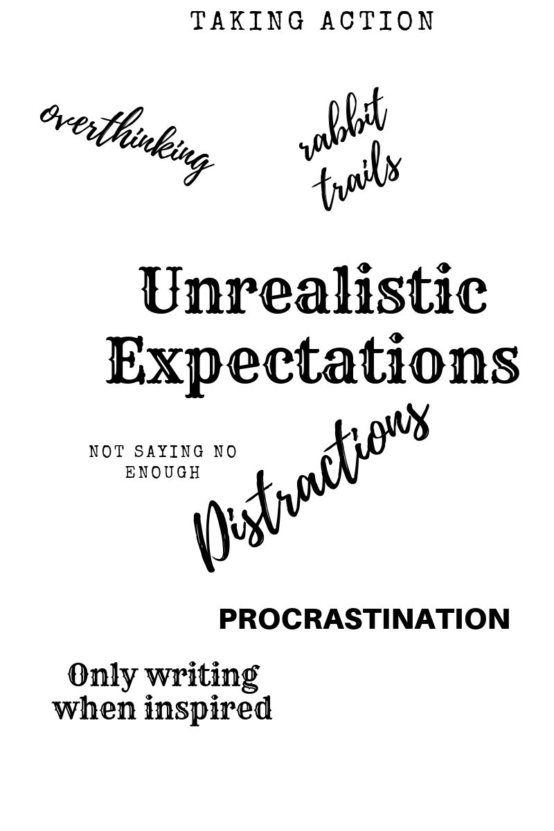 unrealistic expectations, procrastination, writers block help, how to say no to people, how to say no to a friend, overcoming overthinking
